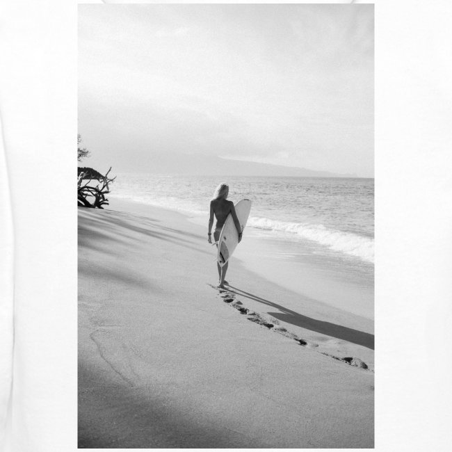 Surfgirl walking