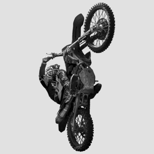 Motocross wheelie animation Gray - Premiumluvtröja herr