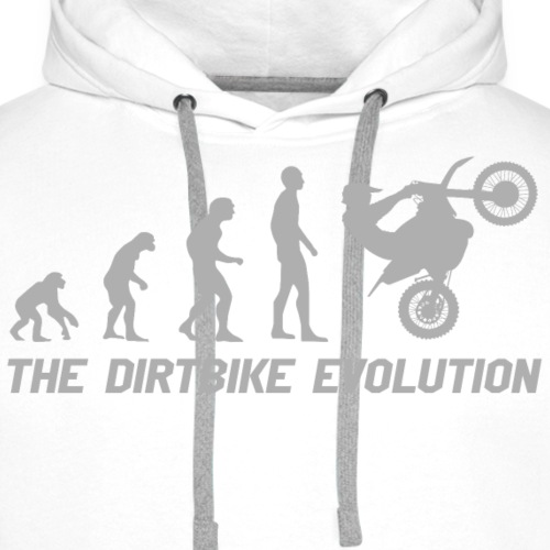 Dirtbike Evolution Gray - Premiumluvtröja herr