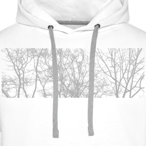 Winter trees - Sudadera con capucha premium para hombre