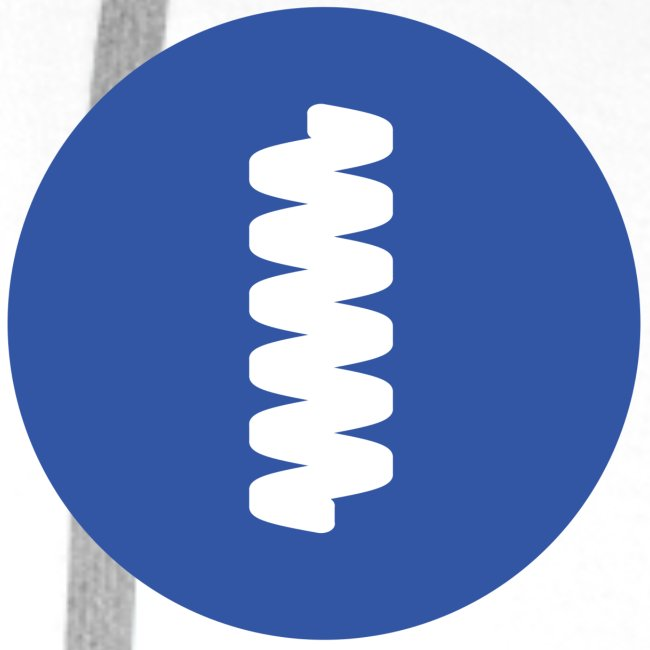 logomark in circular blue