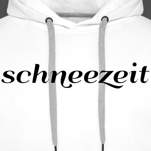 schneezeit Schriftzug - Männer Premium Hoodie