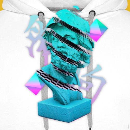 Delph Stone Head Vaporwave Style