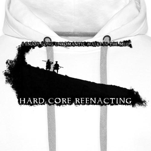 HARD CORE grafik svart png - Men's Premium Hoodie