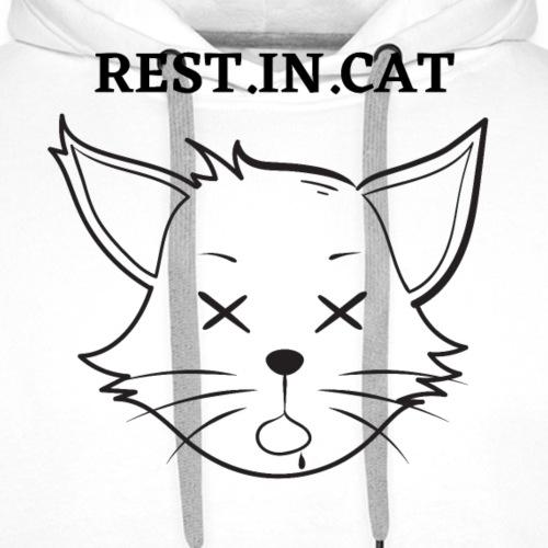 Rest.in.cat - Sweat-shirt à capuche Premium pour hommes