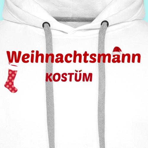 Weihnachtsmann Kostüm - Männer Premium Hoodie