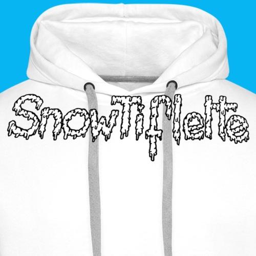 snowtiflette neige 2018 png - Sweat-shirt à capuche Premium pour hommes