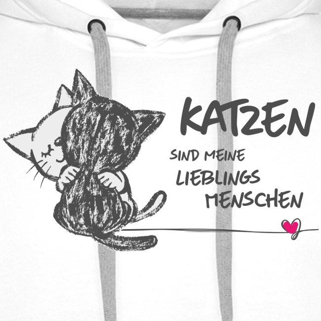 Vorschau: Katzen Lieblingsmenschen - Männer Premium Hoodie