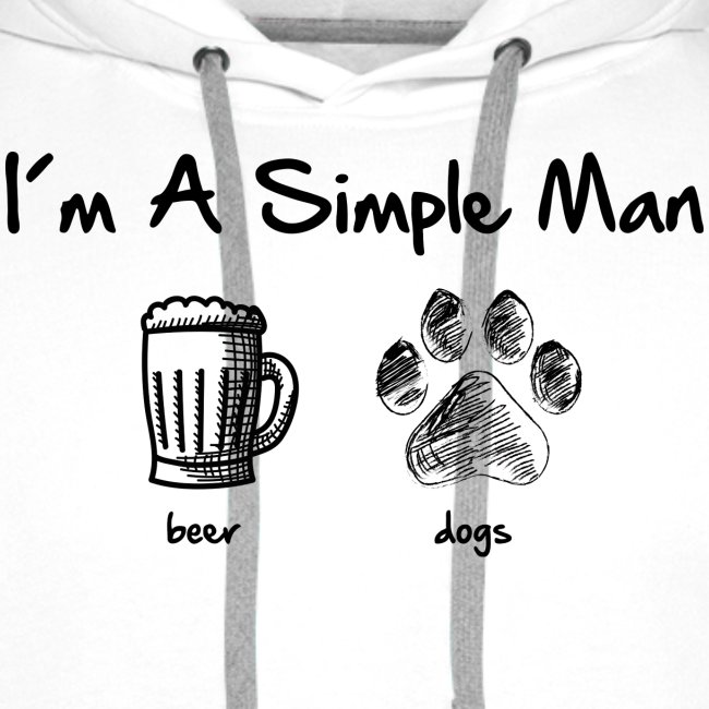 simple man dogs beer - Männer Premium Hoodie