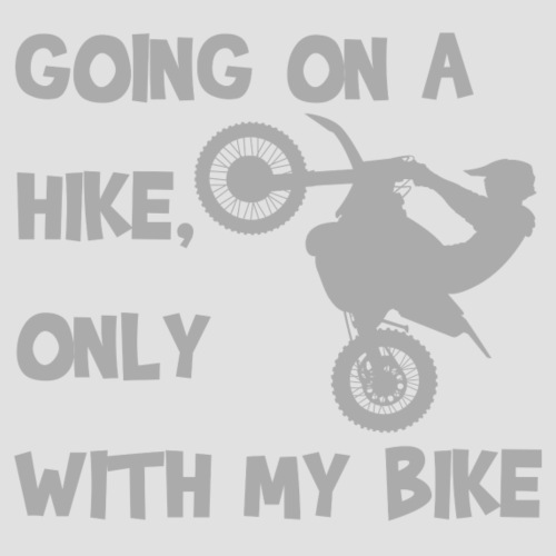 Going on a hike only with my bike - Premiumluvtröja herr