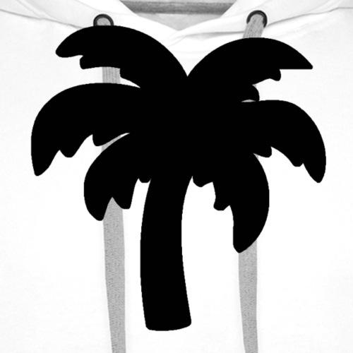 Palm Basic Black - Herre Premium hættetrøje