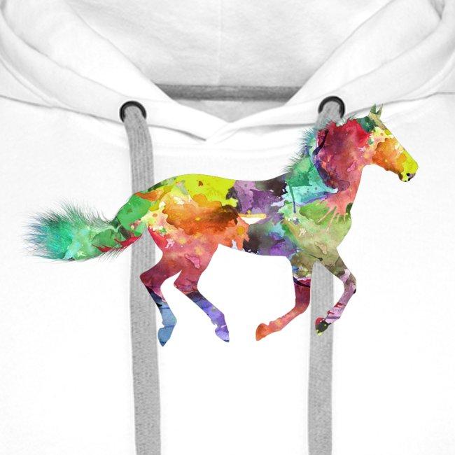 Cheval multicolore