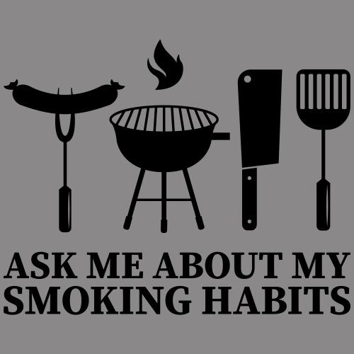 ask me about my smoking habits - Männer Premium Hoodie