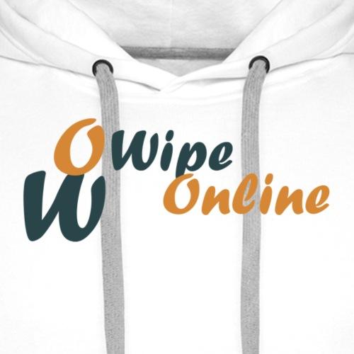 WipeOnline Logo et texte - Sweat-shirt à capuche Premium pour hommes