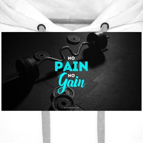No pain No Gain - Felpa con cappuccio premium da uomo