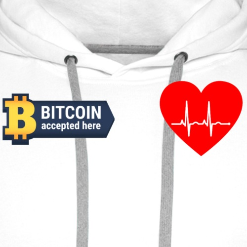 Bitcoin accepted here - Men's Premium Hoodie