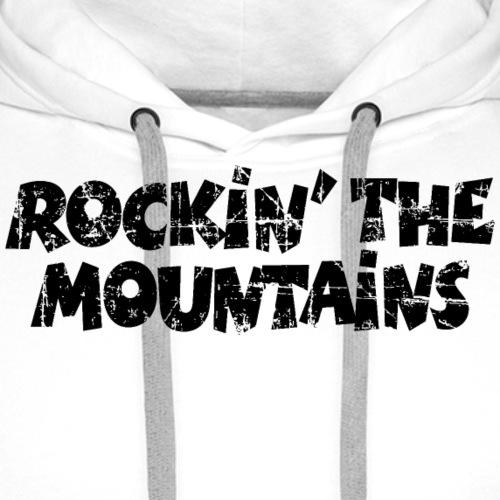 Rockin the Mountains Berge Rocken (Vintage Black) - Männer Premium Hoodie