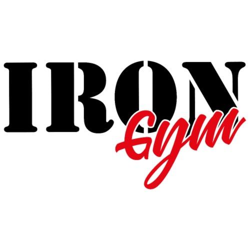 iron gym logo black - Sudadera con capucha premium para hombre