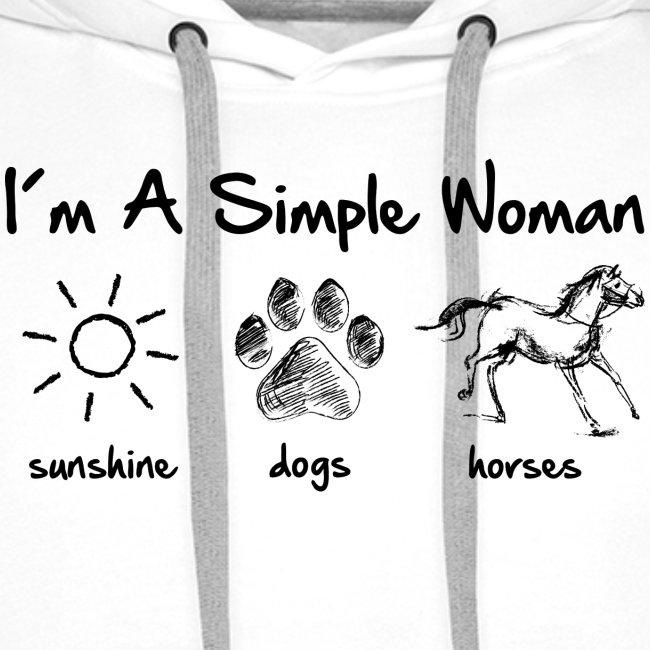 Vorschau: simple woman horse dog - Männer Premium Hoodie