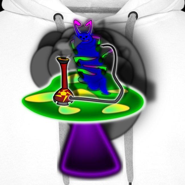 Hookah rauchende Raupe
