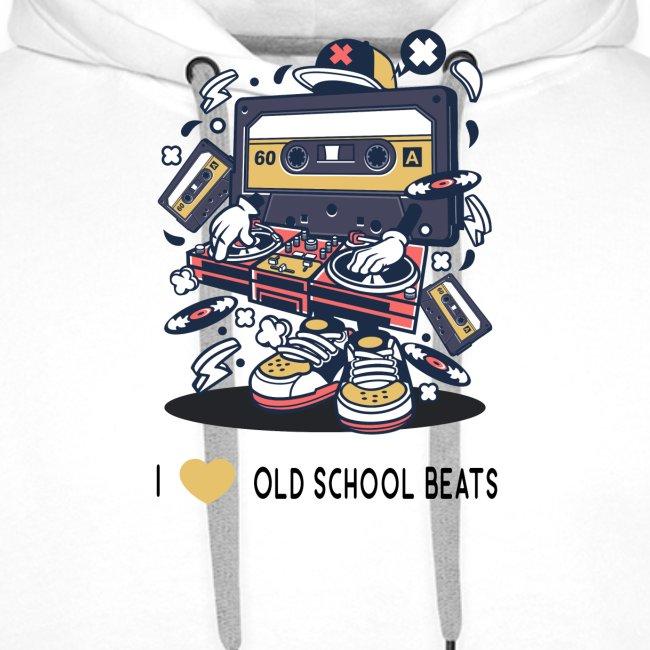 I Love Old School Beats Retro Design