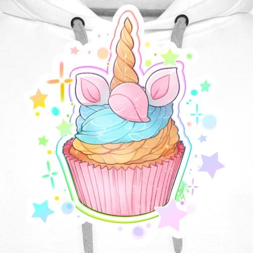 Unicorn Cupcake - Sweat-shirt à capuche Premium pour hommes