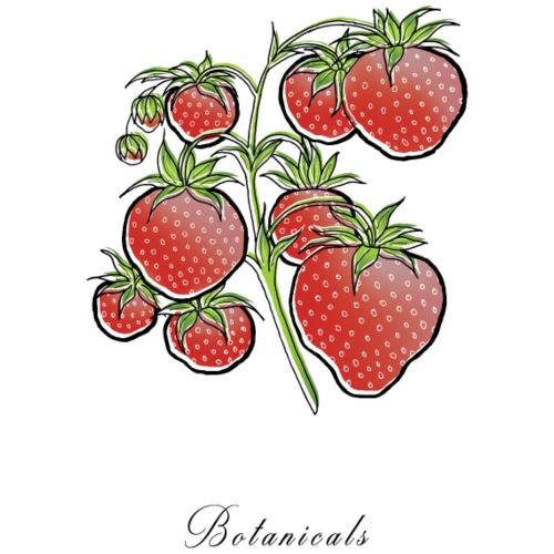 Disegno pianta di fragole - Felpa con cappuccio premium da uomo