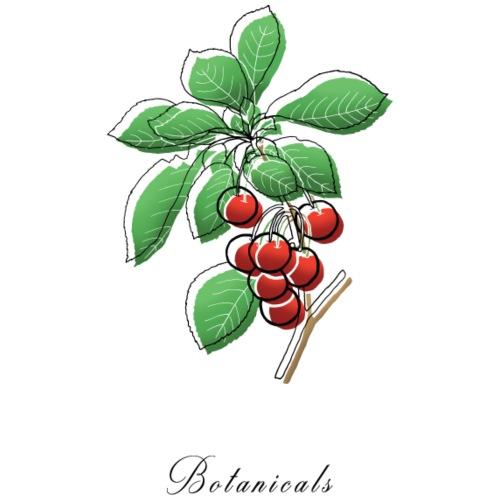Disegno ramo di ciliegie - Felpa con cappuccio premium da uomo