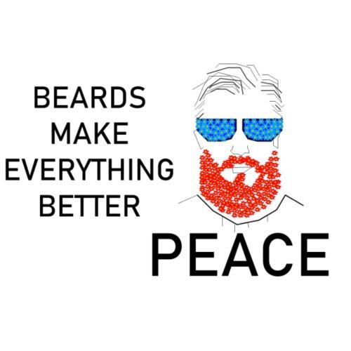Hipster Beards make Peace