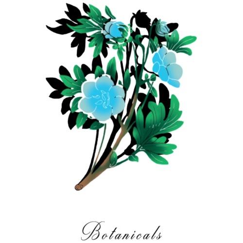 Disegno di nemophila blu - Felpa con cappuccio premium da uomo