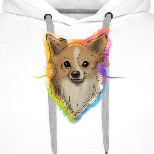 Chien chihuahua spitz poil long - Sweat-shirt à capuche Premium pour hommes