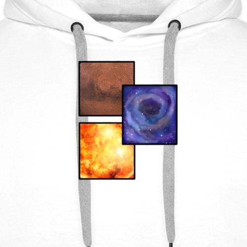 SPACE TWO - Sweat-shirt à capuche Premium pour hommes