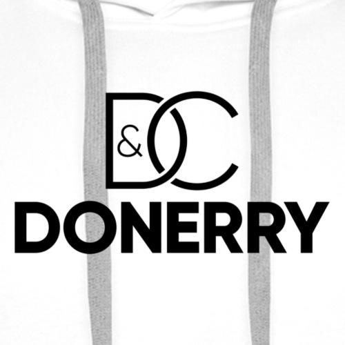 DONERRY Black Logo on White - Men's Premium Hoodie