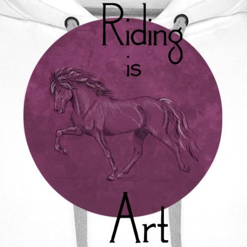 Tölter Art Purple - Männer Premium Hoodie