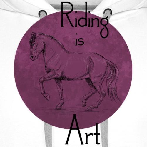 Piaffe Art Purple - Männer Premium Hoodie
