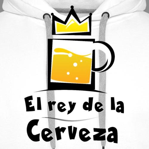 El rey de la cerveza - Sudadera con capucha premium para hombre