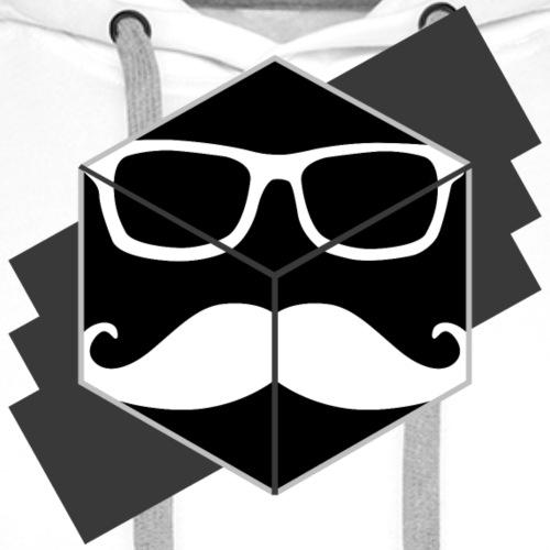 Mustache Cube - Männer Premium Hoodie
