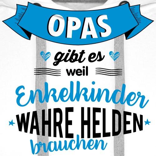 Opa - wahrer Held - Männer Premium Hoodie
