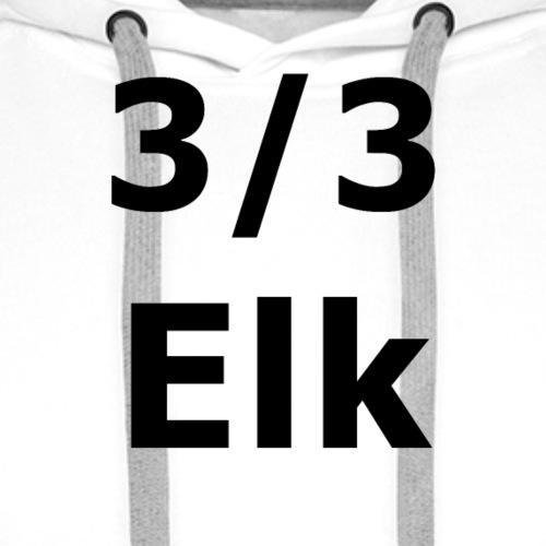 3/3 ELK - Sweat-shirt à capuche Premium pour hommes