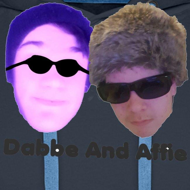 Dabbe And Affie Svart Text