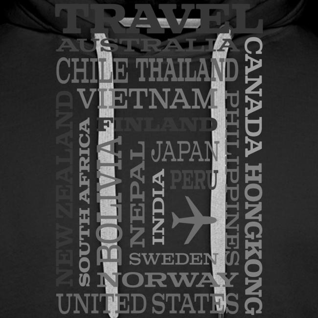 Travel Places Gray design