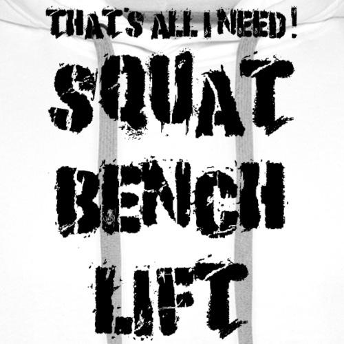 squatbenchlift - Männer Premium Hoodie