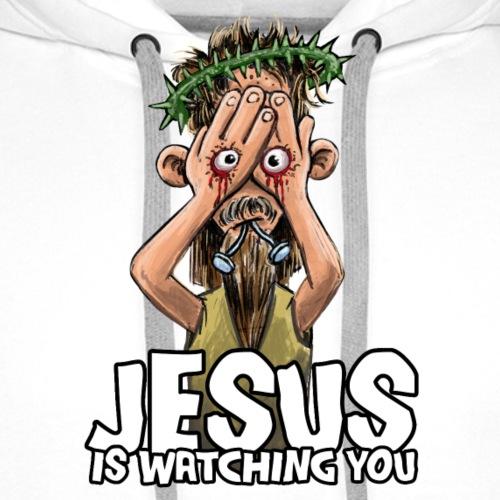 Jesus Cartoon - Männer Premium Hoodie