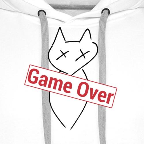 Game Over the Cat - Sweat-shirt à capuche Premium pour hommes