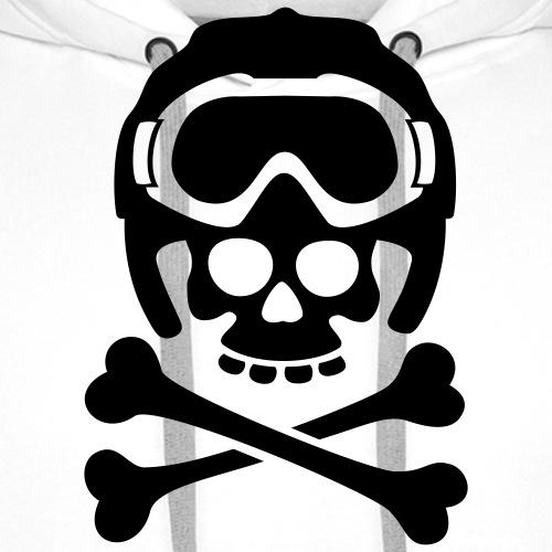 snowboard totenkopf1 - Männer Premium Hoodie
