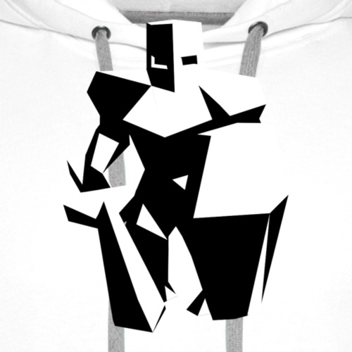 Low Poly Knight B&W - Männer Premium Hoodie