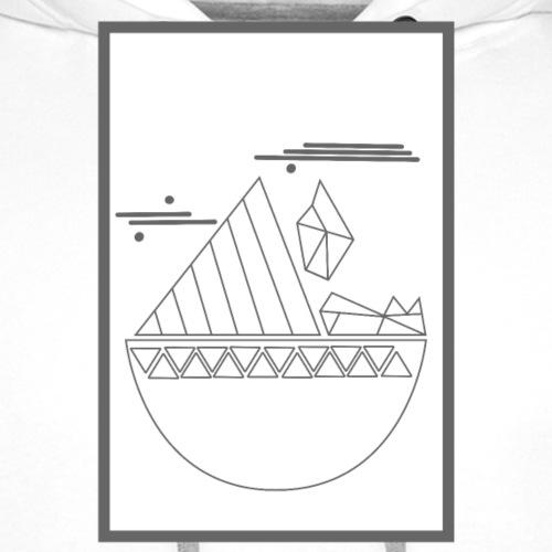Motif Géométrique - Sweat-shirt à capuche Premium pour hommes