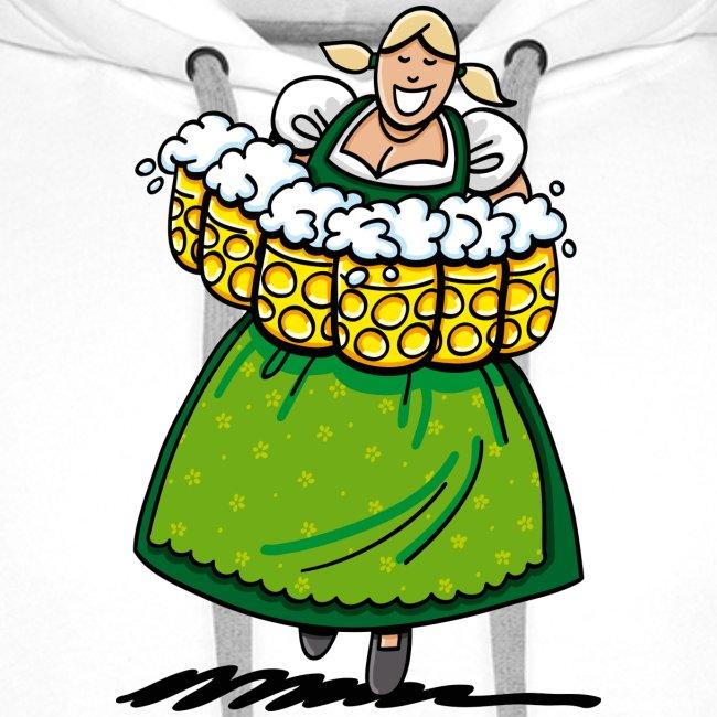 Oktoberfest Bedienung Maßkrüge