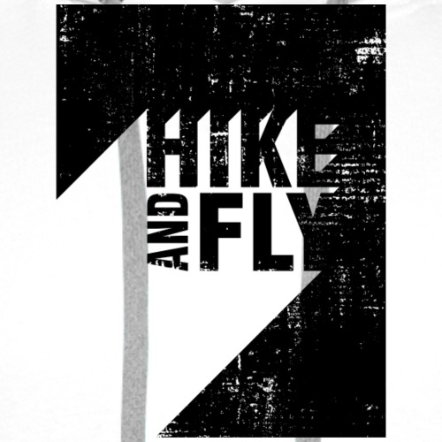 Hike and Fly Paragliding 3D Text - Männer Premium Hoodie