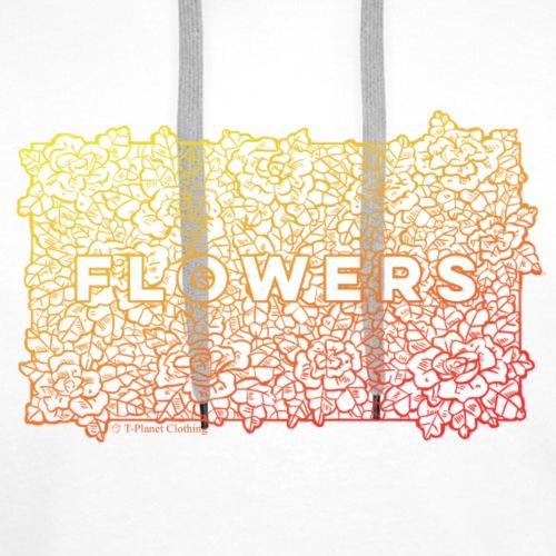 Flowers Red - Felpa con cappuccio premium da uomo